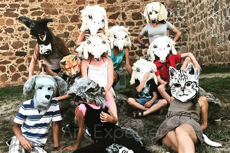 childrens group animal mask making  elinor evans