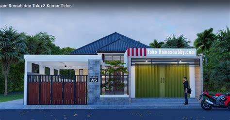desain rumah minimalis  toko   kamar tidur