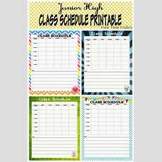 School Schedule Printable Back To School Series  The Benson Street