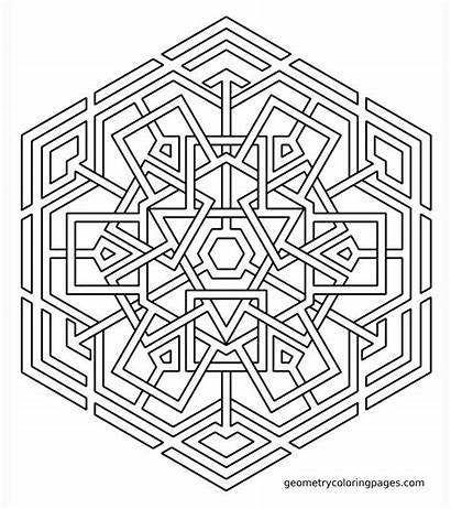 Coloring Pages Mandala Geometric Geometry Sacred Printable