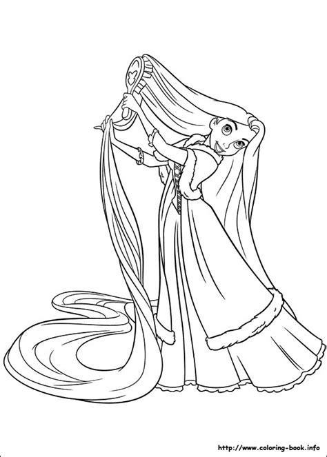tangled ranpunzel coloring pages print color craft