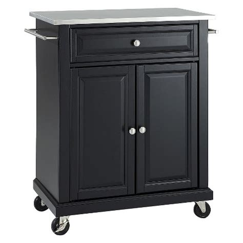 target kitchen island black portable stainless steel top kitchen island wood black 6009