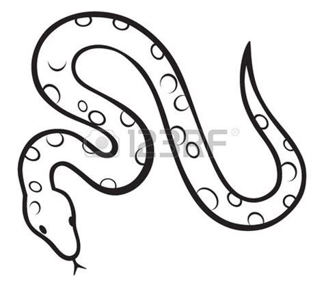 snake clipart black and white black snake isolated on white clipart panda free