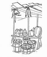 Fall Coloring Autumn Harvest Sheets Produce Colouring Printable Stand Seasons Kolorowanki Clipart Czas Jesienny Ernte Bluebonkers Dzieci Dla Popular Ausmalbilder sketch template