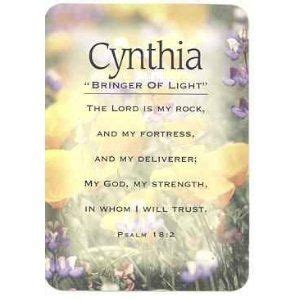 cynthia means cynthia  meaning cards pocket