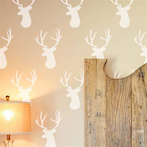 deer head wall stencil contemporary wall stencils