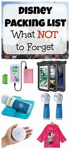 Disney Packing List  10 Things You Do Not Want To Forget