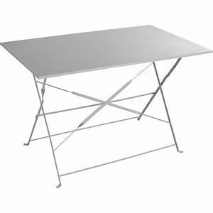 Table De Jardin Grise : table de jardin naterial flore rectangulaire gris 4 ~ Dailycaller-alerts.com Idées de Décoration