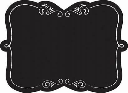 Chalkboard Label Clipart Labels Transparent Frame Corner
