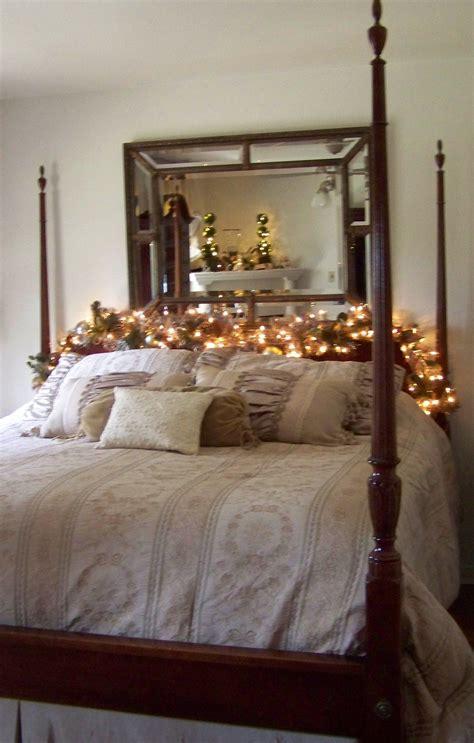 Of Bedroom Golf by Master Bedroom Decor Garland W Soft Lights On Headboard