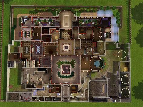 modern mansion floor plans house plans sims floor mansion plan house plans 33925
