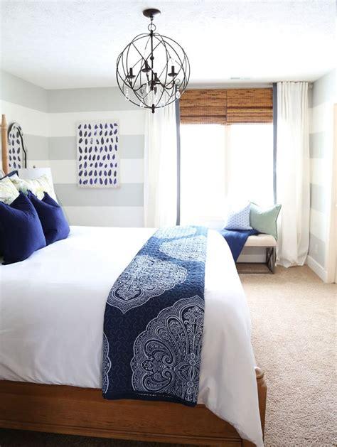 Serene Blue Guest Bedroom  Hayneedle Blog  Gray And