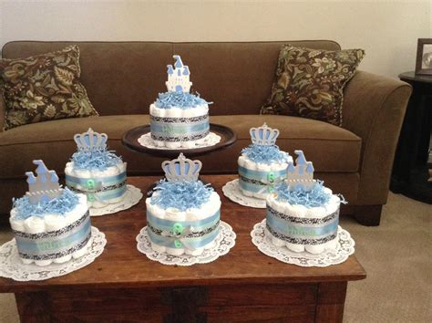 Little Prince Baby Shower Diaper Cakes Centerpieces Other