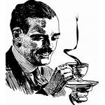 Coffee Clipart Drinking Mustache Drink Drawing Vector