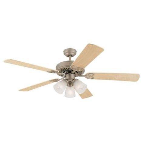 Home Depot Ceiling Fans by Westinghouse Vintage 52 In Brushed Pewter Ceiling Fan