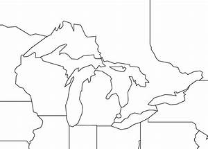 Great Lakes Outline Map Worldatlascom