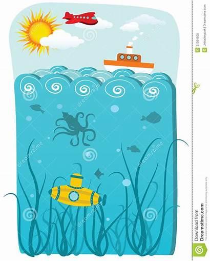 Ocean Illustration Illustrations Vector Hand Drawn Transport