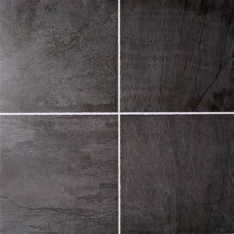 black laminate flooring home depot hton bay black slate 10 mm thick x 11 3 10 in wide x 46 3 10 in length click lock laminate