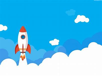 Rocket Launch Illustration Launching Icon Business Psd