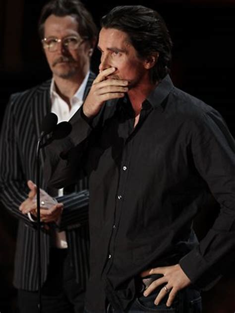 Actor Christian Bale Fights Back Tears Watching Heath