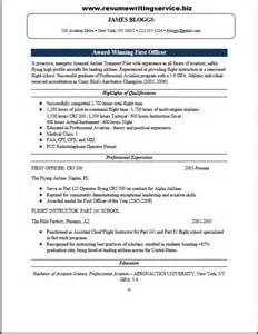 airline pilot resume services officer resume sle resume writing service