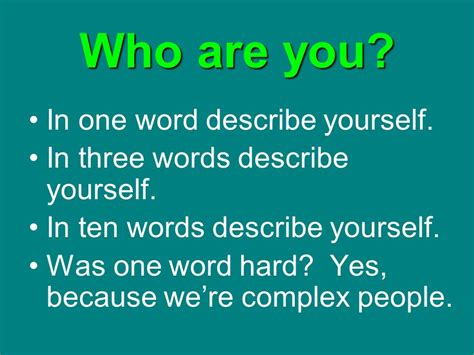 five words to describe you intrapersonal communication ppt download