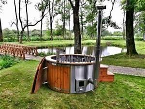whirlpool mit holz heizen garten entspannungsmoglichkeit With französischer balkon mit garten pool mit holzheizung