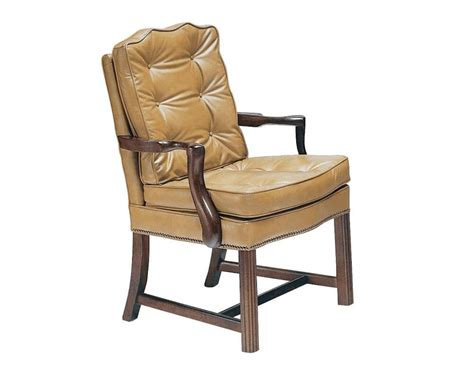 coolidge leather wood frame armchair chippendale leather