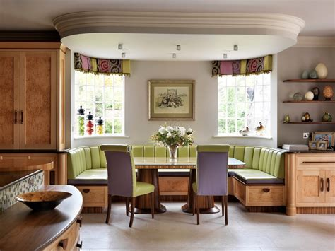 banquette seating Kitchen Contemporary with banquette