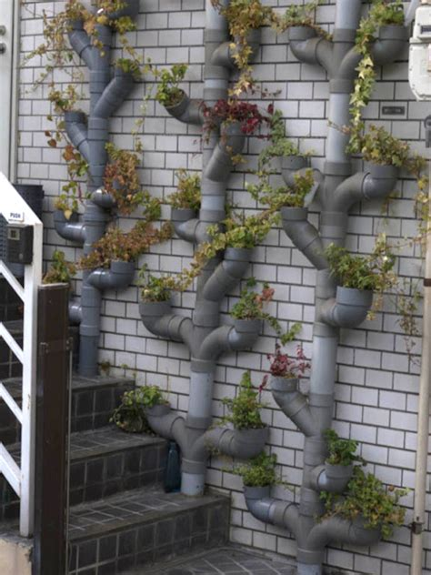 Vertical Garden Pipe by Climbing Up 10 Innovative Vertical Garden Ideas