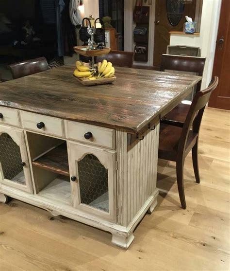 furniture kitchen island from buffet to rustic kitchen island hometalk