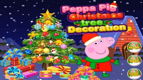 peppa pig christmas tree decoration kids mini games