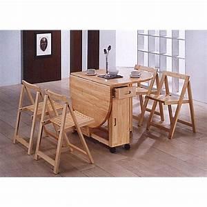 Table Avec 4 Chaises : table pliante avec 4 chaises int gr es table basse table pliante et table de cuisine ~ Teatrodelosmanantiales.com Idées de Décoration