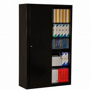 Armoire Noire Pas Cher : meuble de bureau pas cher meuble de bureau design lepolyglotte ~ Teatrodelosmanantiales.com Idées de Décoration
