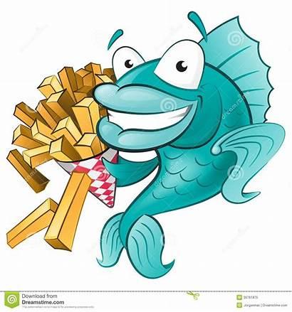 Chips Fish Clip Bing Cod Cartoon Clipart