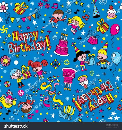 happy birthday pattern stock vector 93056962