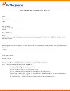 icici bank letterhead format  fill  printable