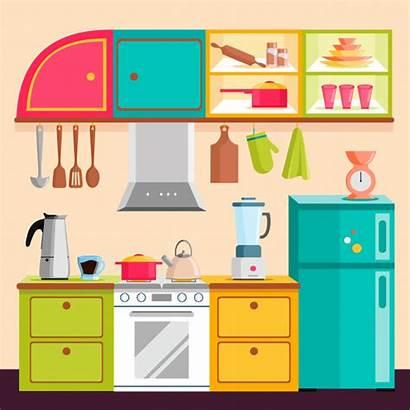 Kitchen Vector Illustration Premium Interior