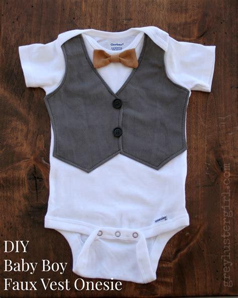 Baby Boy Vest Diy Baby Boy Faux Vest Onesie