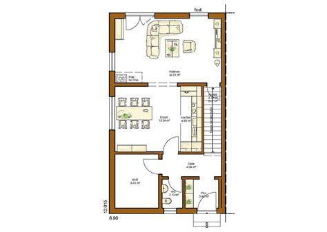 Grundriss Haus 8m Breit by Clou 132 Grundriss Erdgeschoss Gerade Treppe Grundrisse