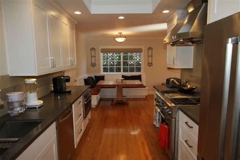 galley kitchen with breakfast nook galley kitchen refresh 6782
