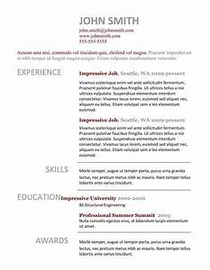 7 simple resume templates free