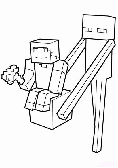 Minecraft Coloring Pages Slender Character Fun Main