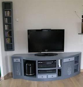 meuble tele carton meubles en carton angers With meuble tele sur mesure