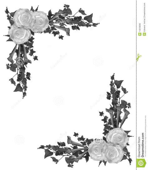 cadre noir et blanc cadre floral noir et blanc image libre de droits image 14018036