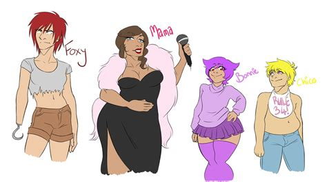 Fnaf Genderbends By Saaiie On Deviantart