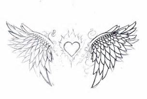 Heart with Angel Wings Tattoo Designs
