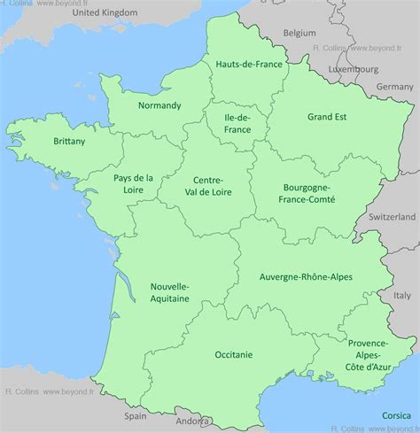 regions map by provence beyond