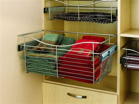 revashelf 18 wide 6 high wire basket satin nickel closet