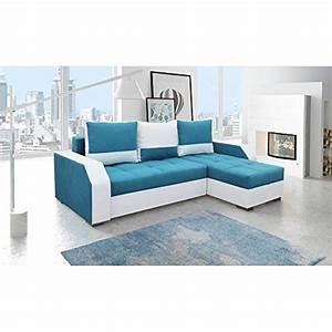 JUSThome Aris Canap D39angle Sofa Canap Lit Tissu Cuir